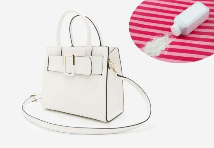 cách làm sạch túi da màu trắng đơn giản