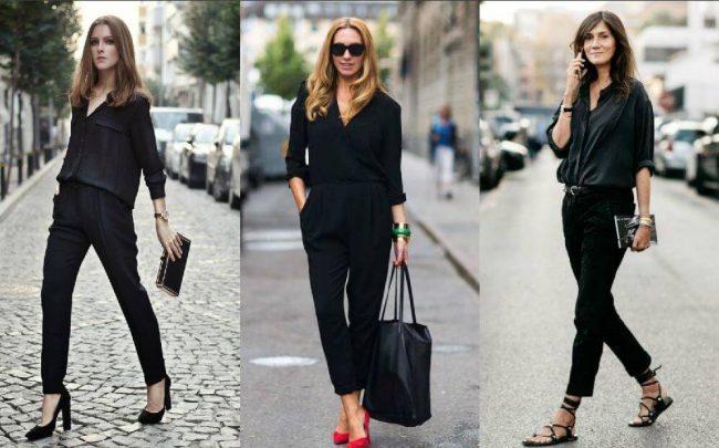 phối đồ với túi màu đen