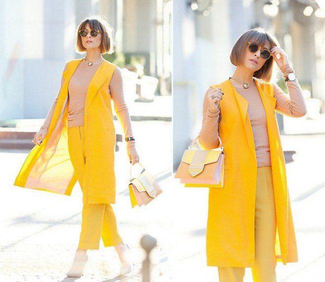 cách phối đồ nữ với túi xách vàng