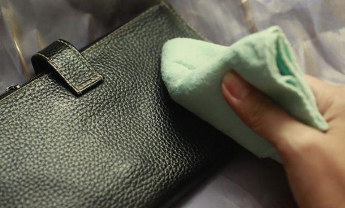 cách làm sạch túi da sần